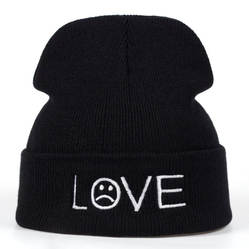 2018 new Brand bts love Pattern Hat Women Knitted Winter Hat Fashion  Skullies Beanies men Wool Winter Cap Thicker Caps now available on  Affordable ... 1ed523294170