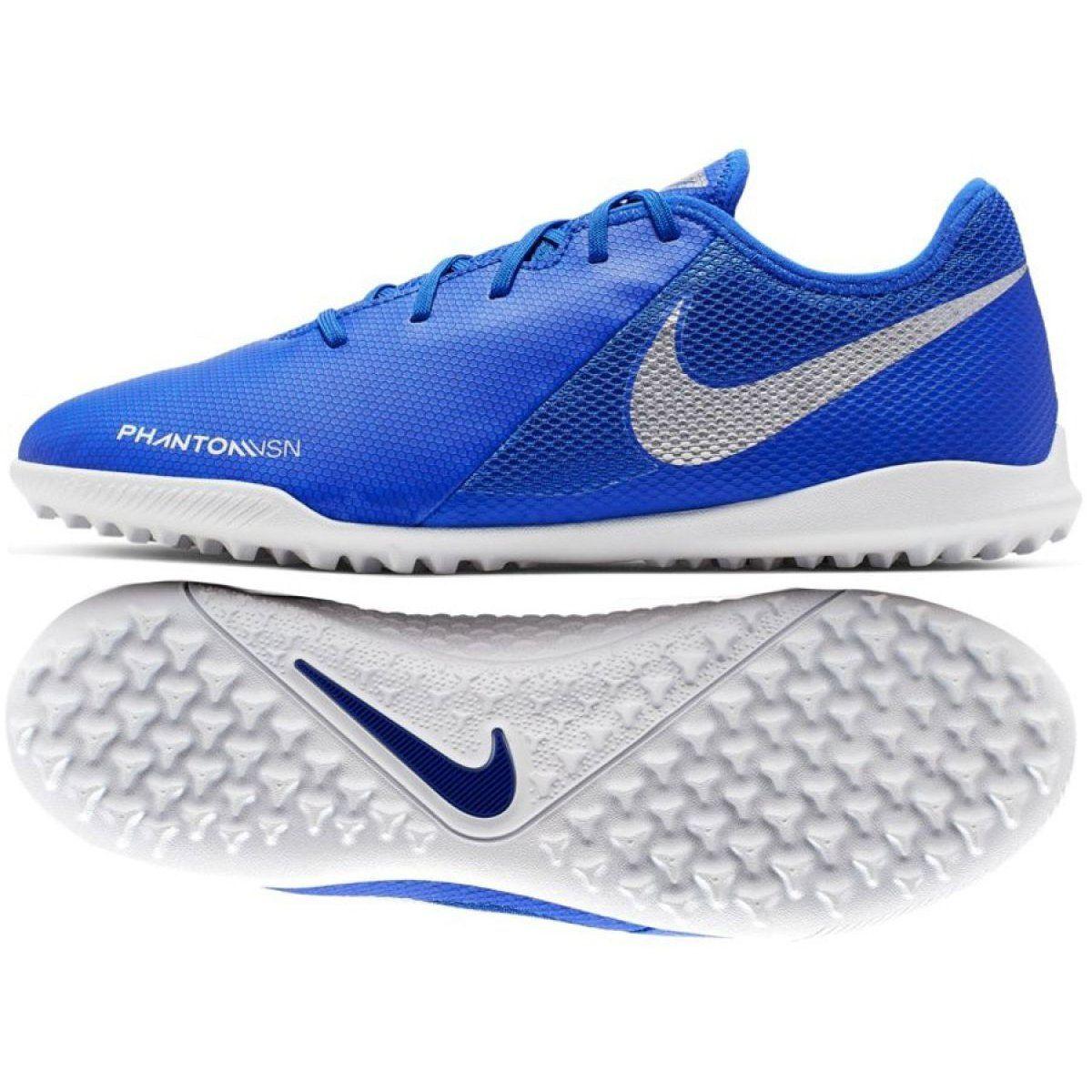 Buty Pilkarskie Nike Phantom Vsn Academy Tf M Ao3223 410 Niebieskie Wielokolorowe Nike Football Shoes Nike Shoes