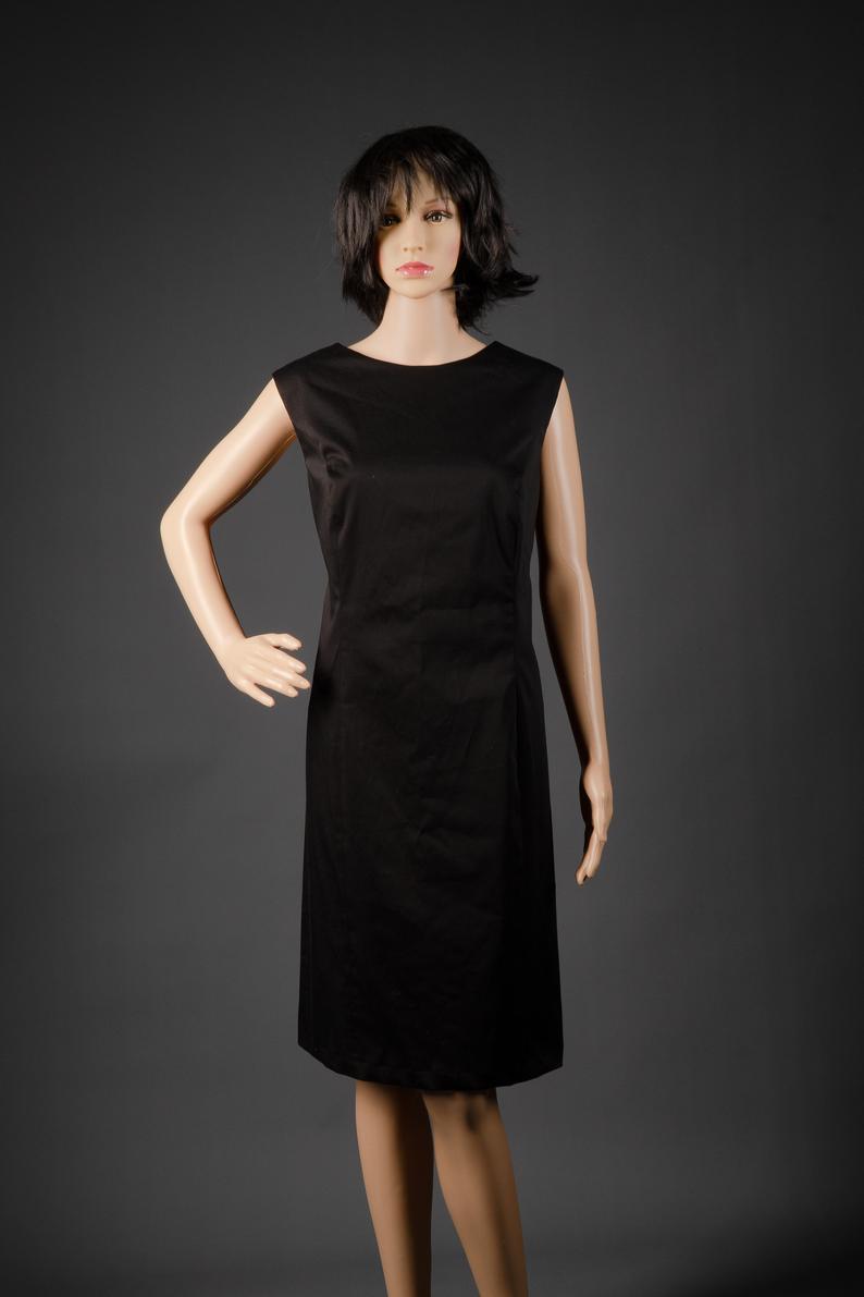 Kleines sschwarzes Kleid Gr. 14 Etuikleid Baumwolle  Etsy