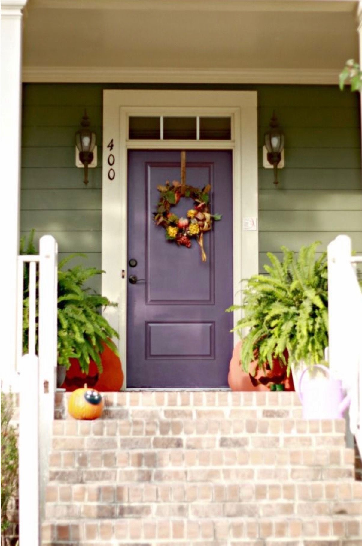 Pin By Liberty W Mason On Home Decor Purple Front Doors House Paint Exterior Exterior Paint Colors For House