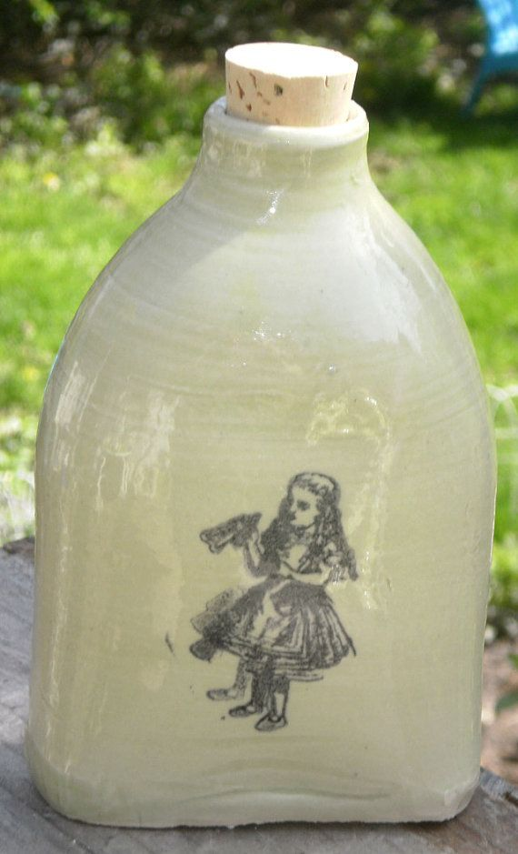 Drink Me Flask by MoonshineJug on Etsy, $26.00