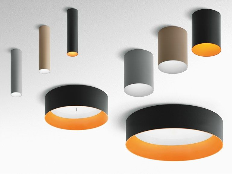 Deckenle Industriedesign led aluminium ceiling l tagora collection by artemide design