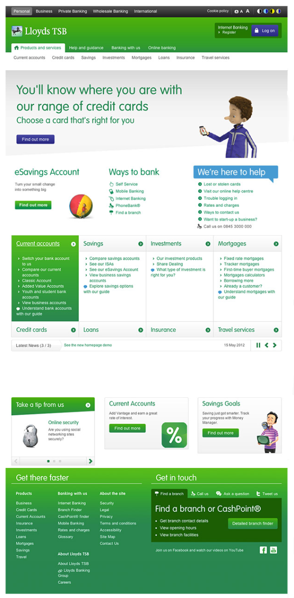 Lloyds Tsb New Look Online Banking Homepage Launched In November 2012 Online Banking Business Person Private Banking