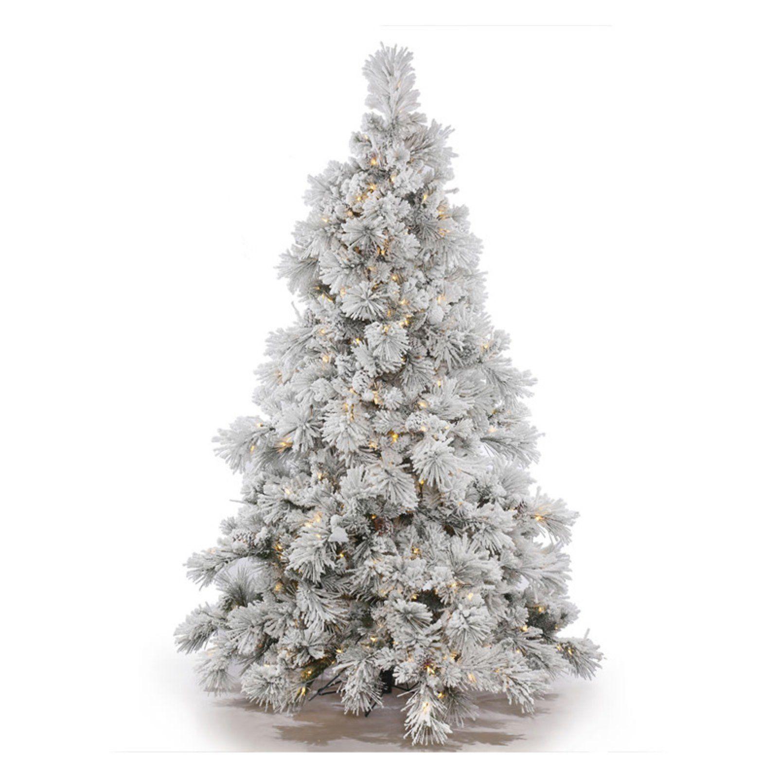 Vickerman Flocked Alberta Pre Lit Christmas Tree In 2021 Pre Lit Christmas Tree White Artificial Christmas Tree Red Christmas Tree
