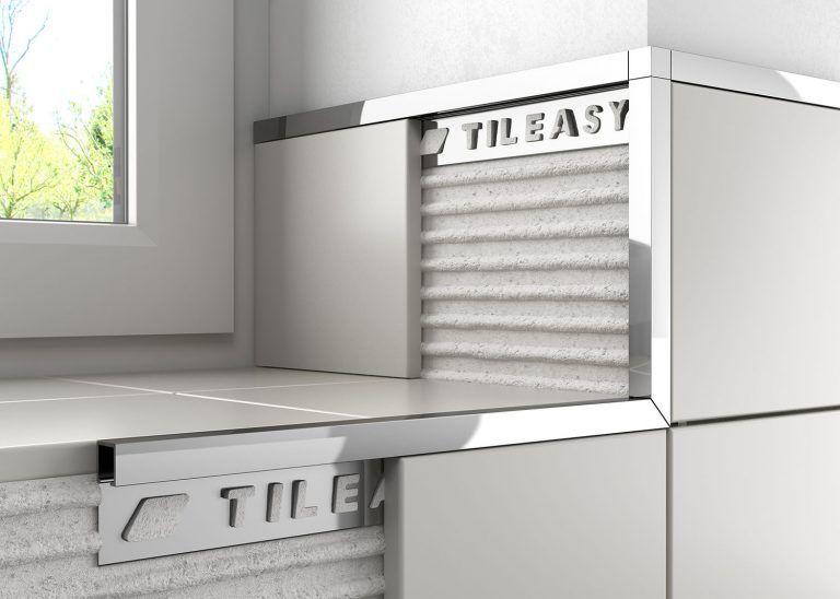 Metal Worktop Tile Trim Tileasy Tile Trim Metal Box Plastic Tile