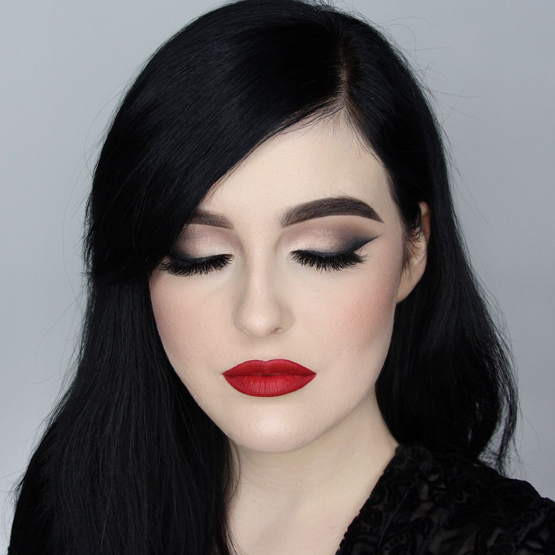 Morticia Addams Vibes Using All Kissnypro Products Magical Ink