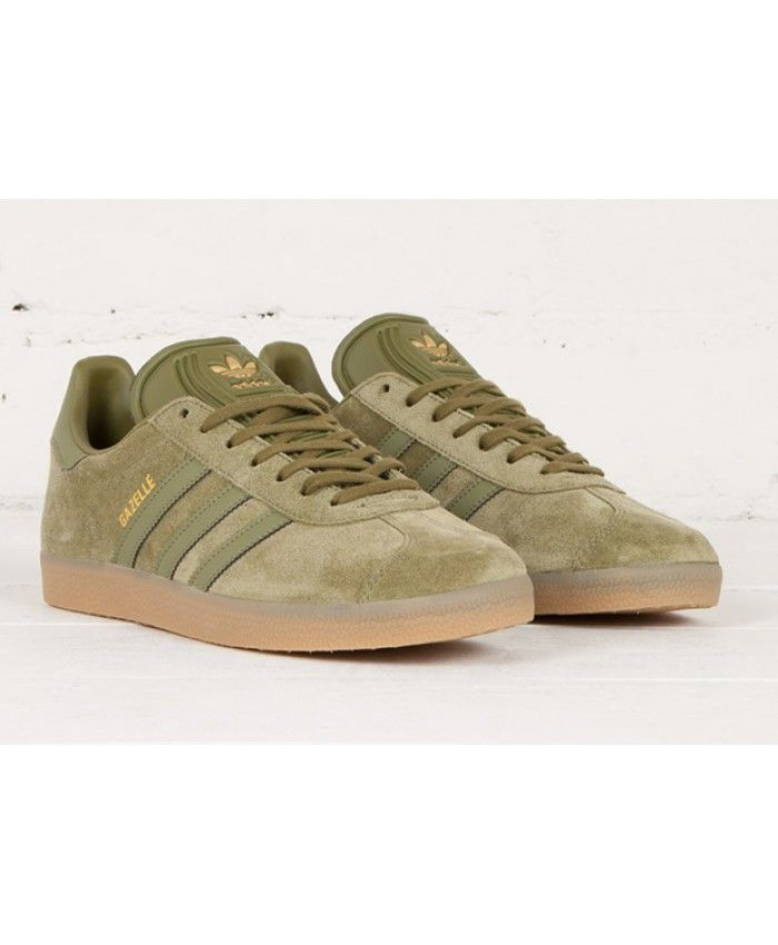 outlet store e811b a40b7 Adidas Gazelle Olive Cargo Gum Trainer