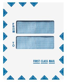 Double Window First Class Mail Envelope • Style: Portrait ...