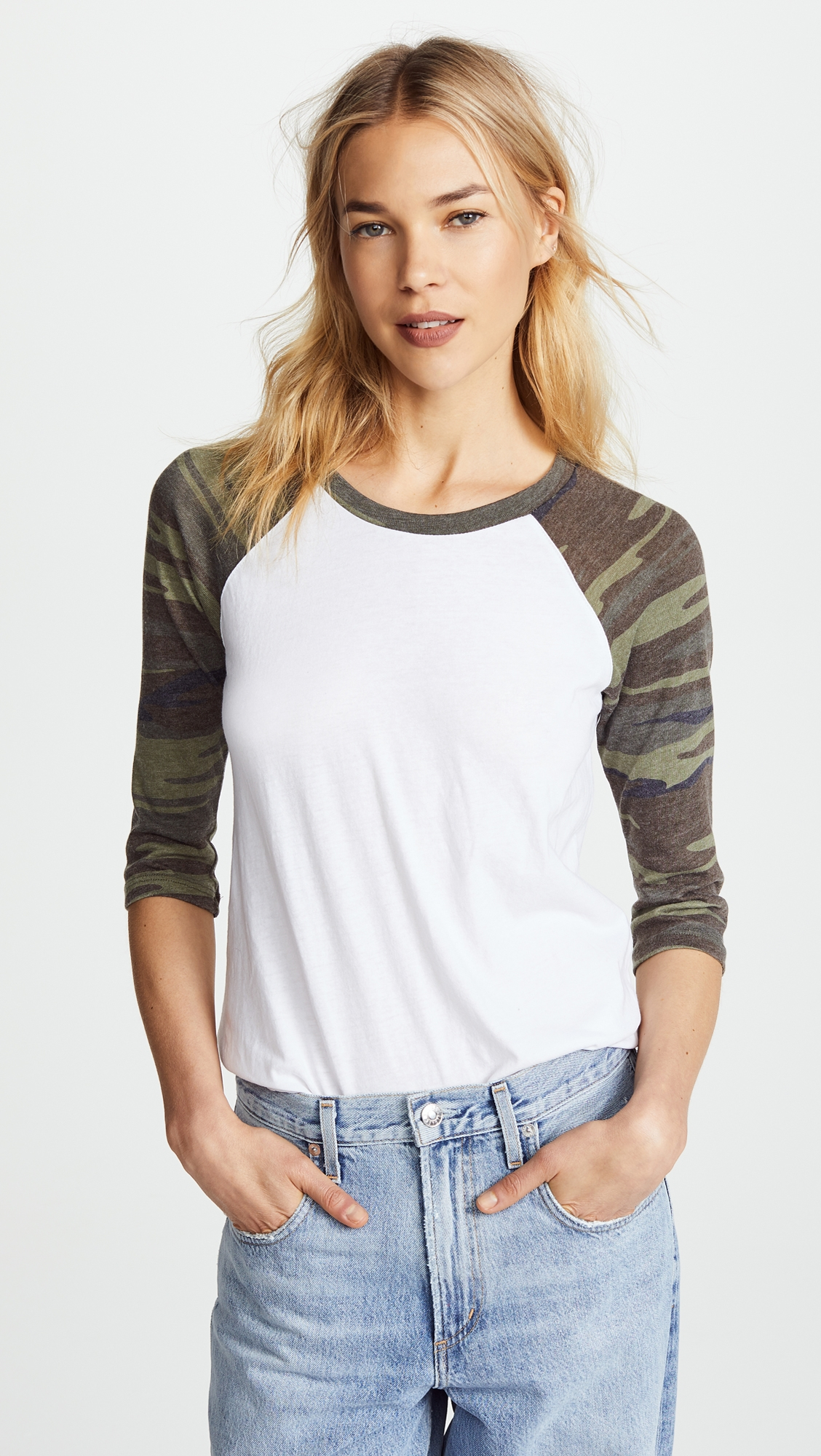 db92e140b Camo Baseball Tee | Stitch fix Needs | Baseball shirts, Baseball ...