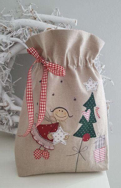 Geschenkverpackungen - Weihnachten /Beutel/Utensilo mit Engel - ein Designerstück von Feinerlei bei DaWanda