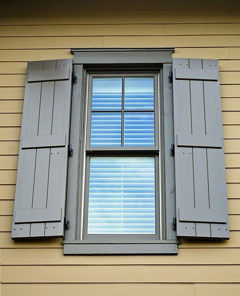 I Love The Gray Color Of These Storm Protection Windows