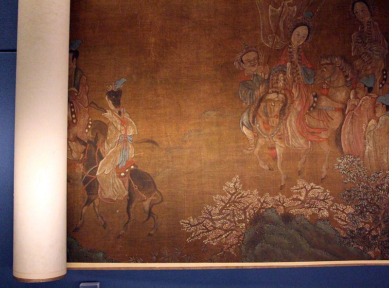Cina, il viaggio oltre la frontiera di Wang Zhaojun - rotolo -  XVI-XVII sec. - Biblioteca Medicea Laurenziana - Firenze