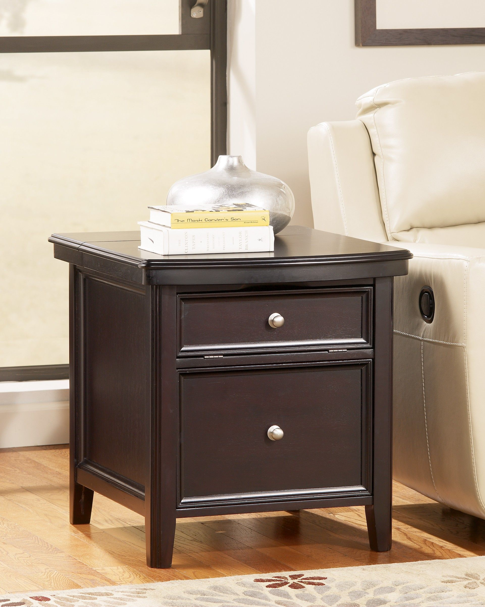 Ashley Carlyle T77117 Signature Design Media End Table
