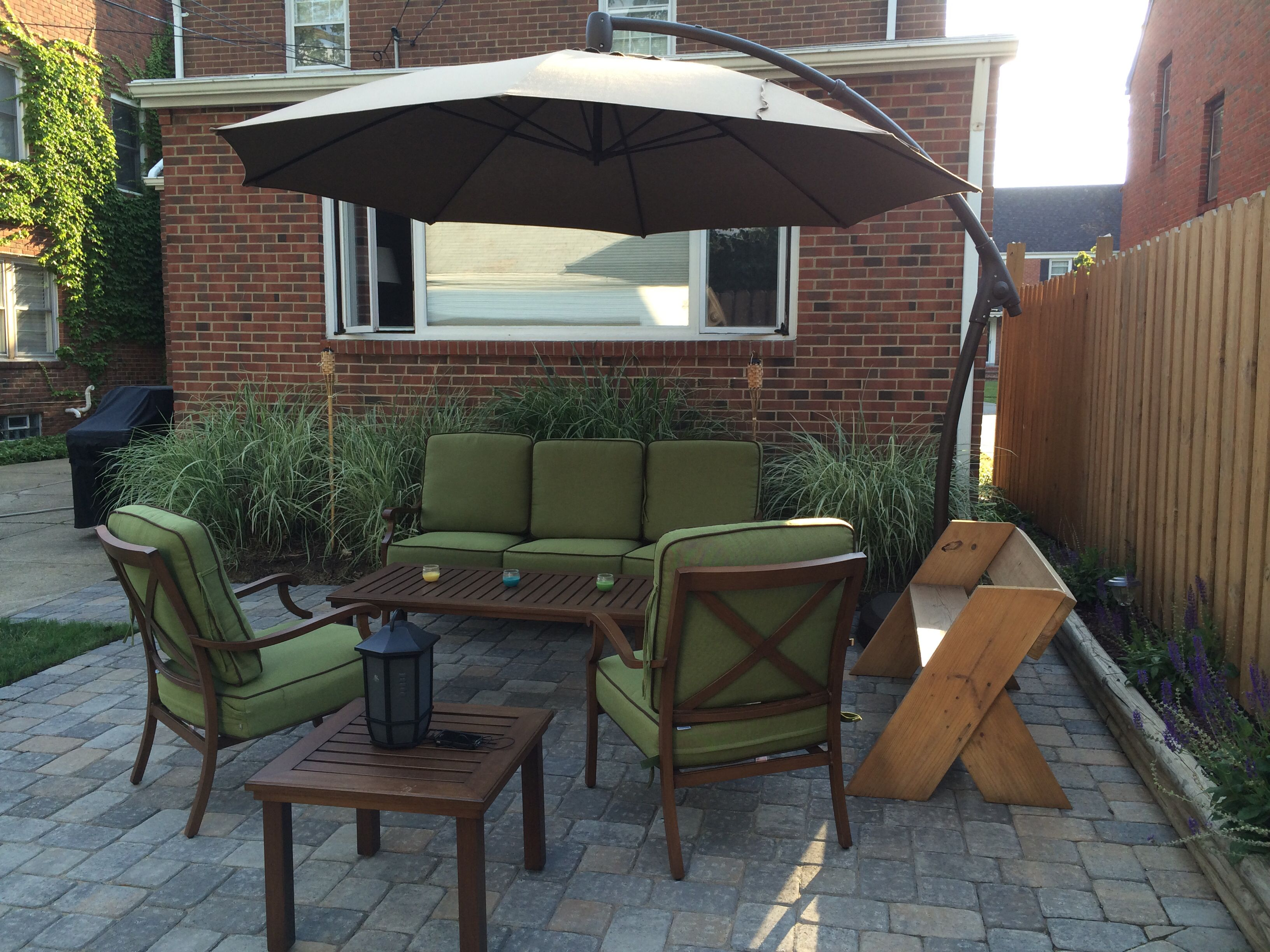 Lovely Small Patio Table with Umbrella