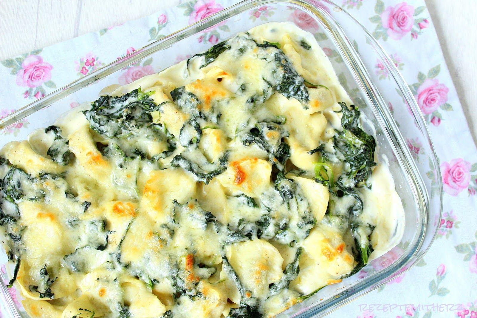 Rezepte mit Herz : Tortellini - Spinat - Auflauf