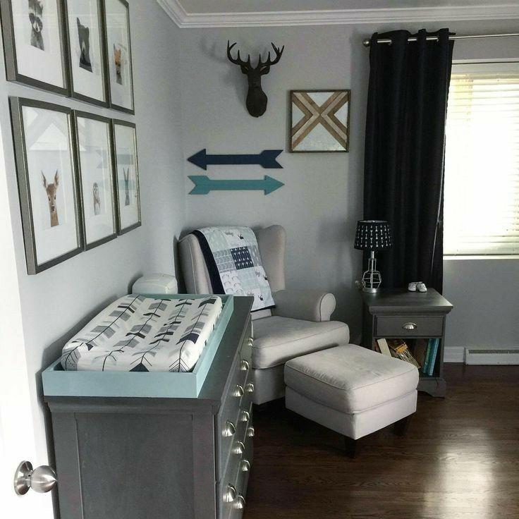 Best Nursery Boy Baby Rustic Deer Arrows Blue 640 x 480