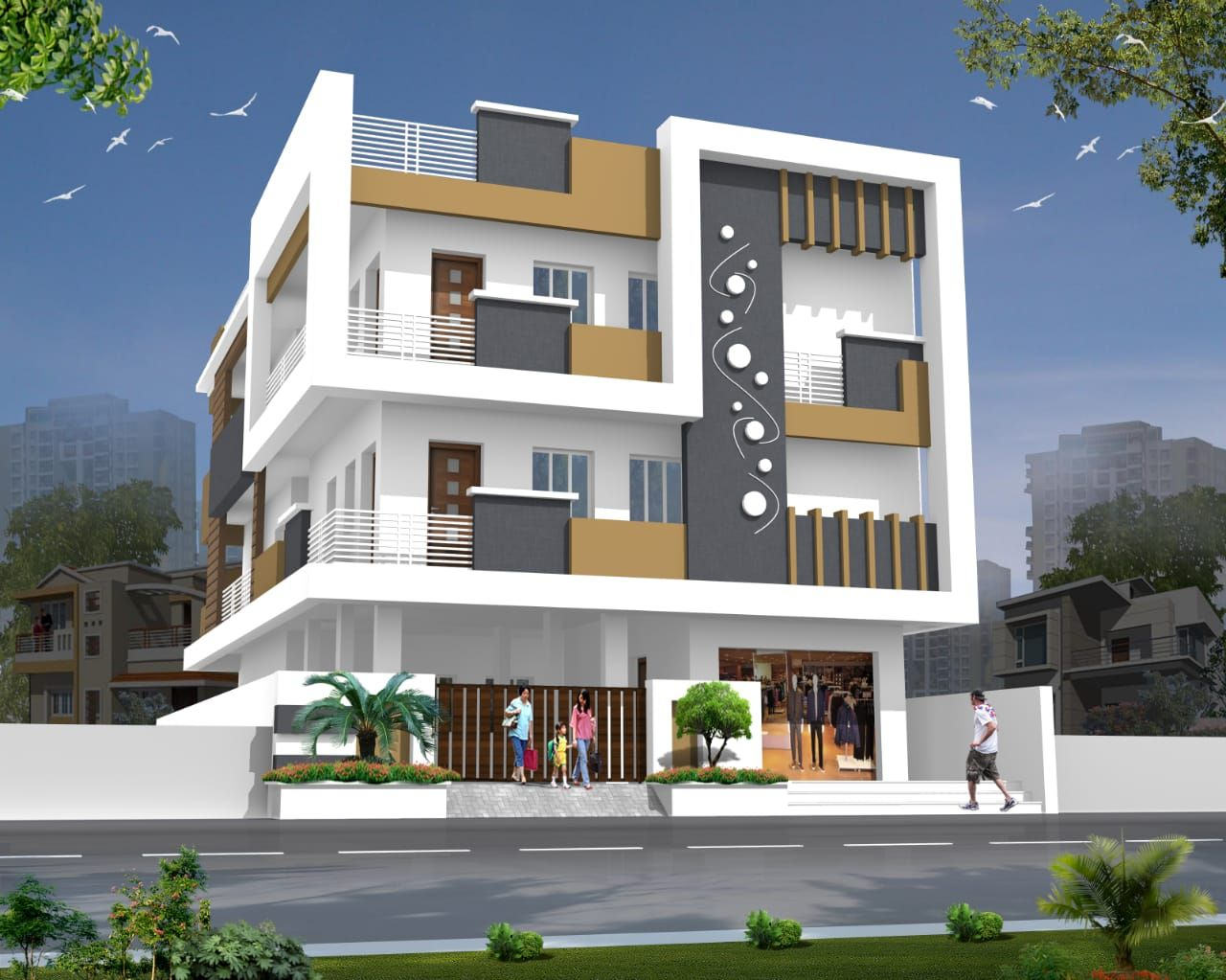 Porch elevation front designs building plan duplex house design also icymi of small indian houses in rh pinterest