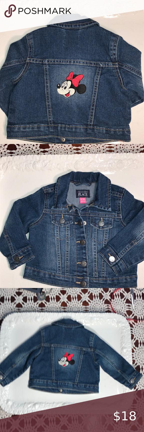The Children S Place Minnie Mouse Jean Jacket Cute Jean Jackets Jean Jacket For Girls Baby Denim Jacket [ 1740 x 580 Pixel ]