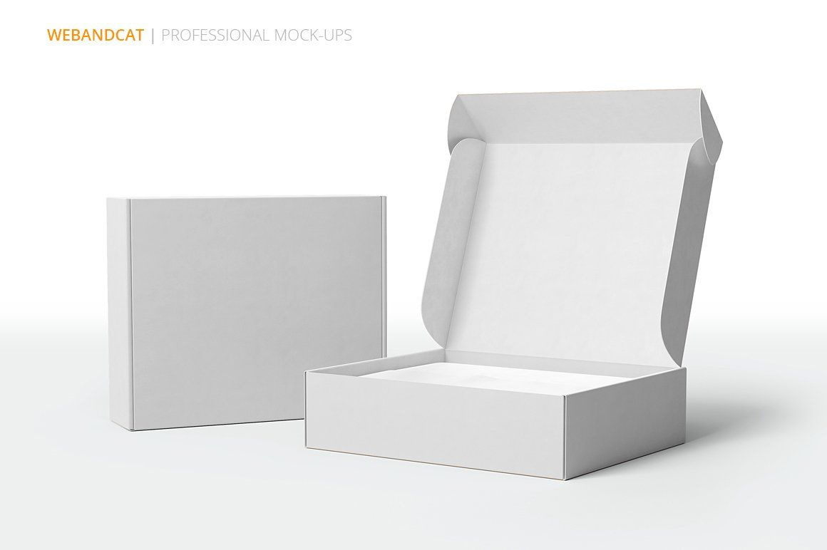 Download Shipping Mailing Box Mock Up Design Mockup Free Mockup Cosmetic Packaging Design