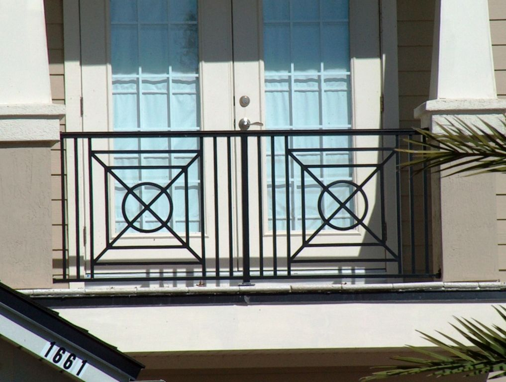 Stainless steel balcony railing designs wrought iron 25 for Balcony steel railing designs pictures