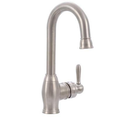 Pegasus Newbury Single-Handle Bar Faucet in Brushed Nickel ...
