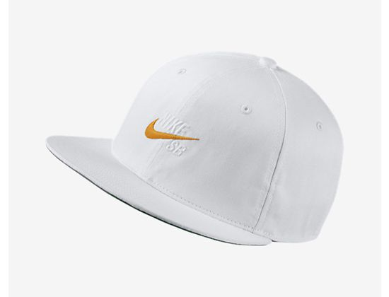 942eee16594 Vintage White Circuit Orange Snapback Cap by NIKE SB