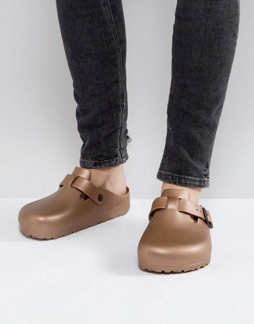 2c61ffead10 BIRKENSTOCK BOSTON EVA METALLIC MULES IN COPPER - COPPER.  birkenstock   shoes