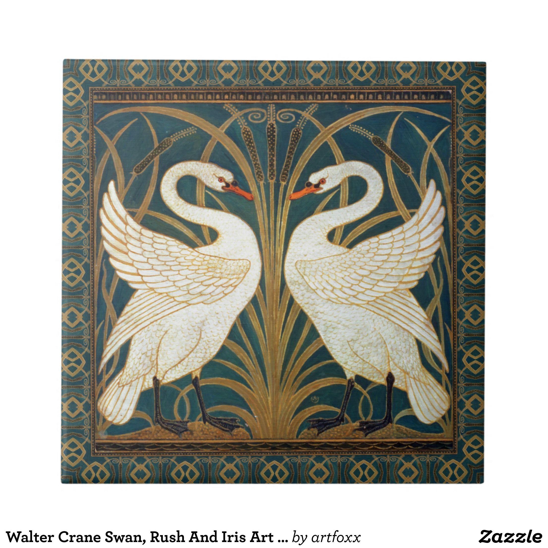 Walter crane swan rush and iris art nouveau ceramic tile walter walter crane swan rush and iris art nouveau ceramic tile dailygadgetfo Images