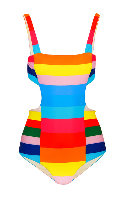 Stripe Cutout Swimsuit