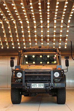 An Army G-Wagon undergoing testing at the Land Engineering Agency Testing facilities at Monegeetta. The Mechanical Environmental Laboratory provides a full range of environmental testing. This includes climatic testing in high and low temperatures, high humidity, salt spray/fog, driving rain and dust environments. The Land Engineering Agency is part of Land Systems Division within the Defence Material Organisation