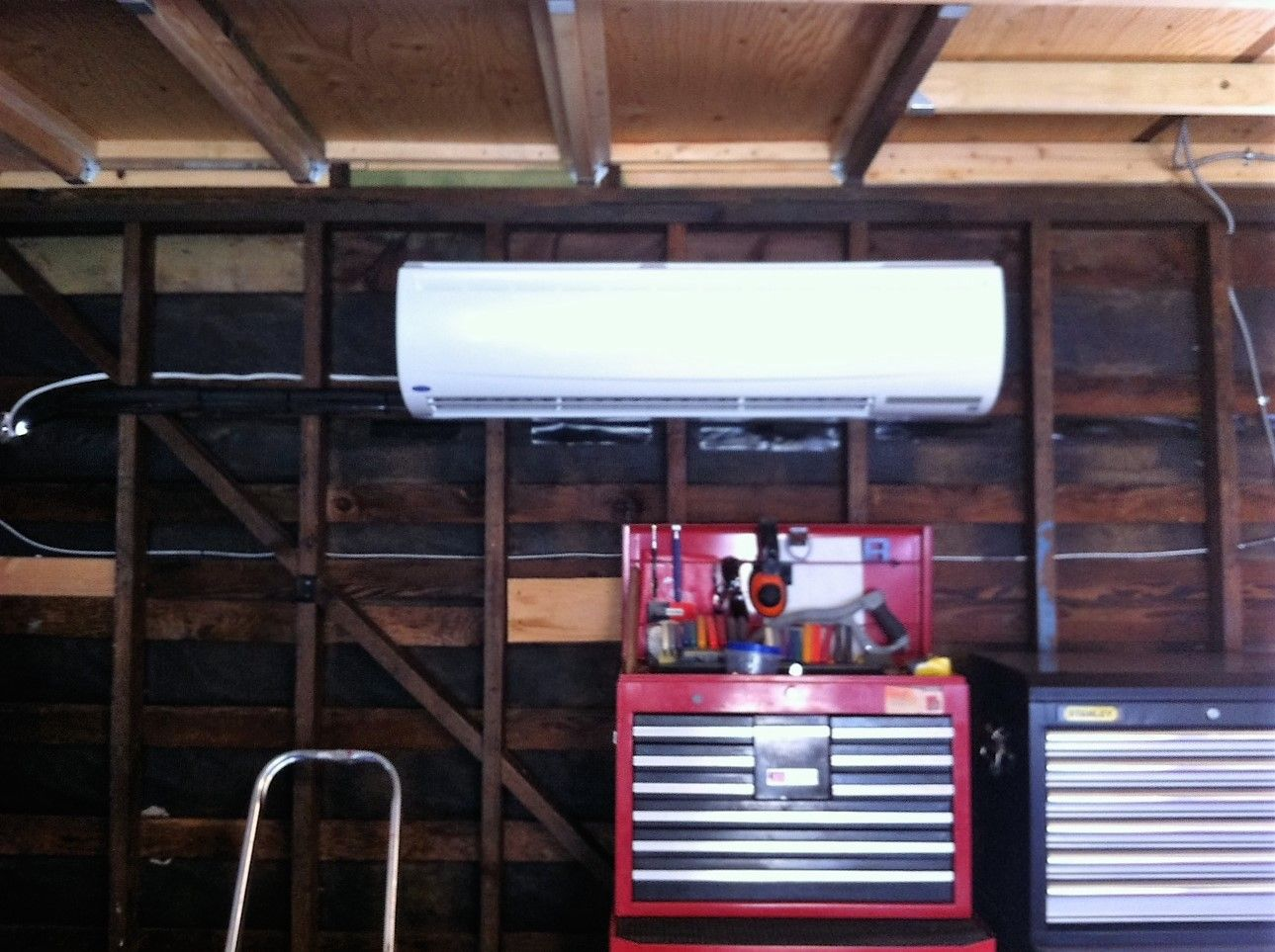One of our customers wanted his garage air conditioned