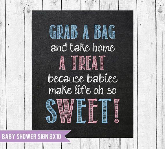 Baby Shower Chalkboard Sign // Grab a by ChalkboardPrintables