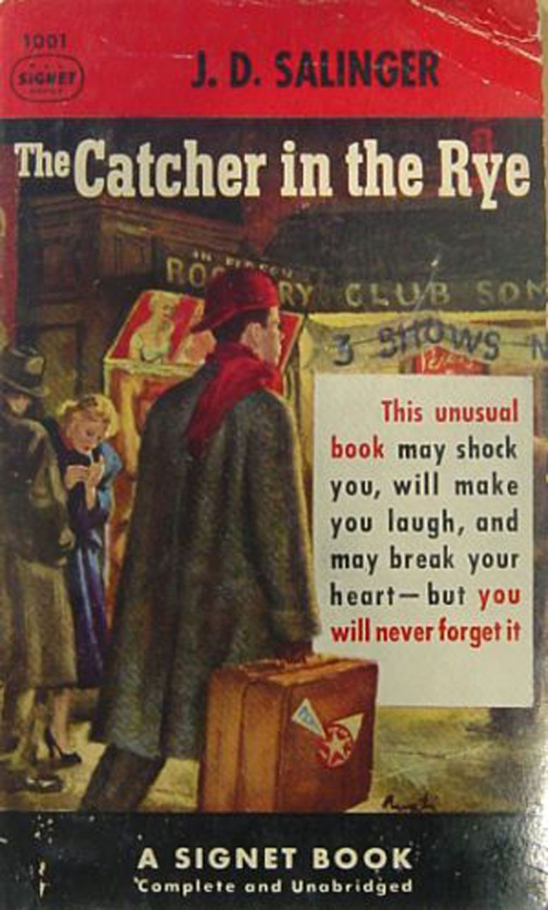 a comparison of the catcher in the rye by j d salinger and the old man and the sea by ernest hemingw Advice and ghosts are in the library as well as the classic novel about a whiny jerk going out on the town and learning that life if full of hypocrisy, even himself.