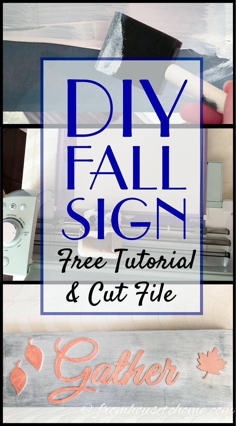 easy diy gather sign for your thanksgiving decor living room rh pinterest com