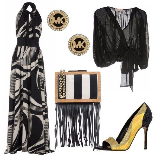 Fantasie geometriche: outfit donna Chic per serata fuori | Bantoa