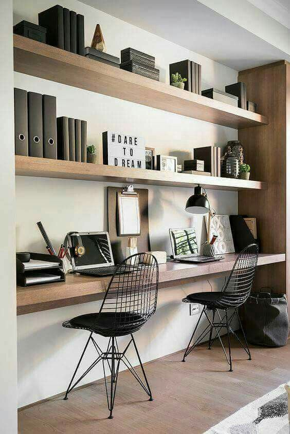 Find home office ideas, including ideas for a small space, desk