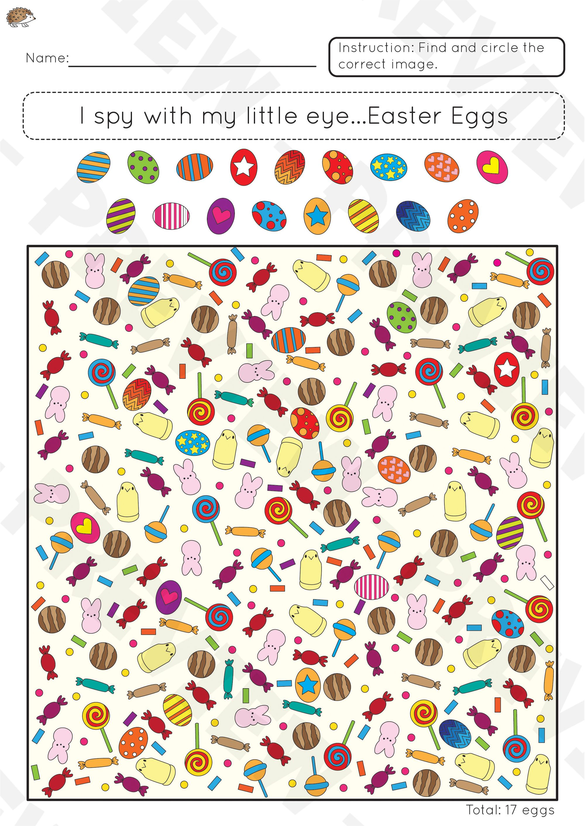 Easter Theme I Spy Worksheets Spy Games For Kids Easter Activities For Preschool Printable Activities For Kids [ 2825 x 2000 Pixel ]