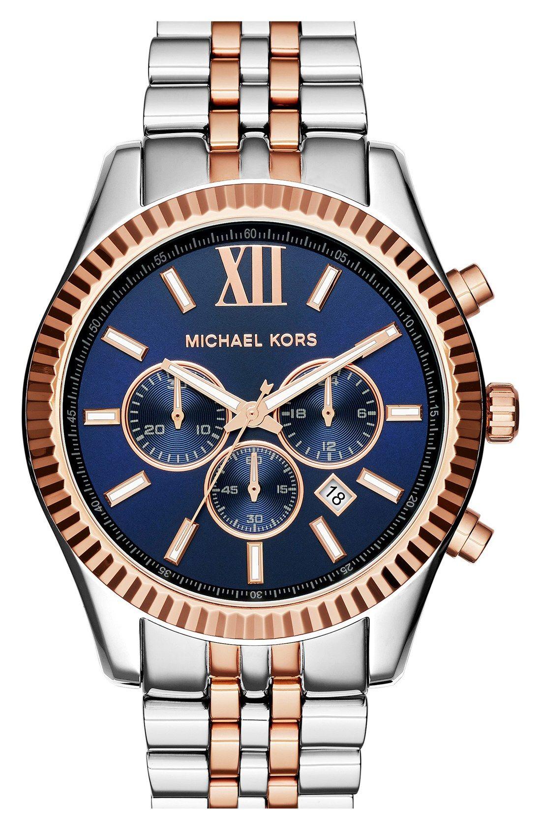 bb93e29f364c6 Michael Kors  Large Lexington  Chronograph Bracelet Watch