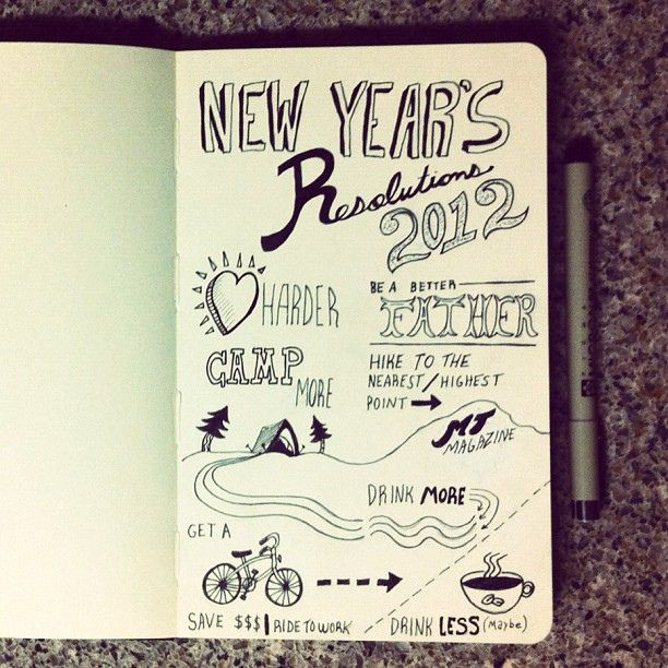 New Year S Resolutions Newyear Illustration Journal New Years Resolution