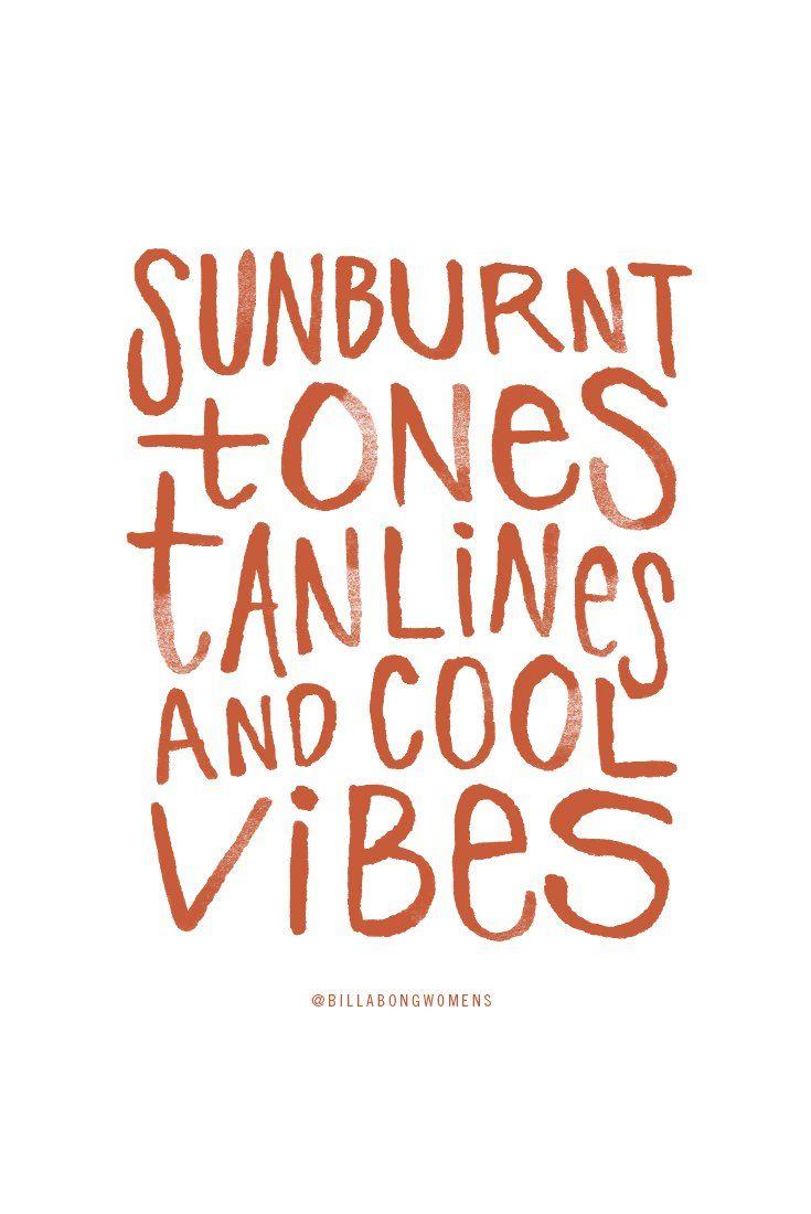 sunburnt tones, tanlines, and cool vibes // Billabong ...