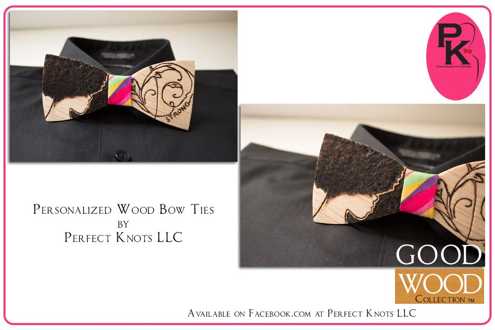 $20 Personalized Good Wood Bow Ties available on Etsy.com @PerfectKnotsLLC!