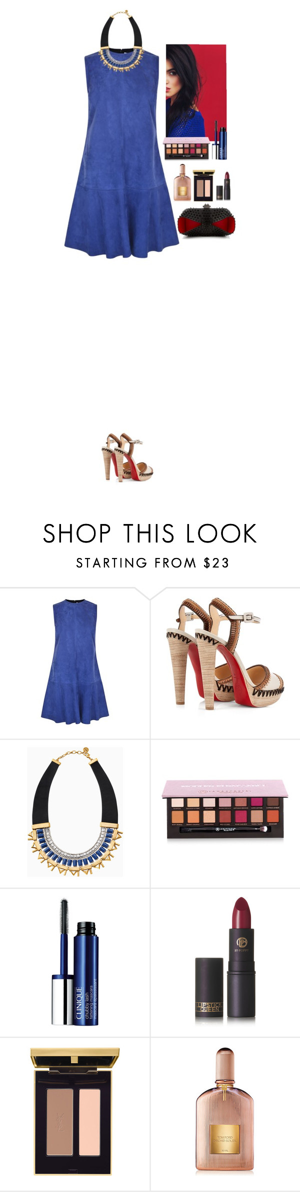"""""""Aztec"""" by eliza-redkina on Polyvore featuring мода, Ted Baker, Christian Louboutin, Stella & Dot, Anastasia Beverly Hills, Clinique, Lipstick Queen, Tom Ford, outfit и like"""