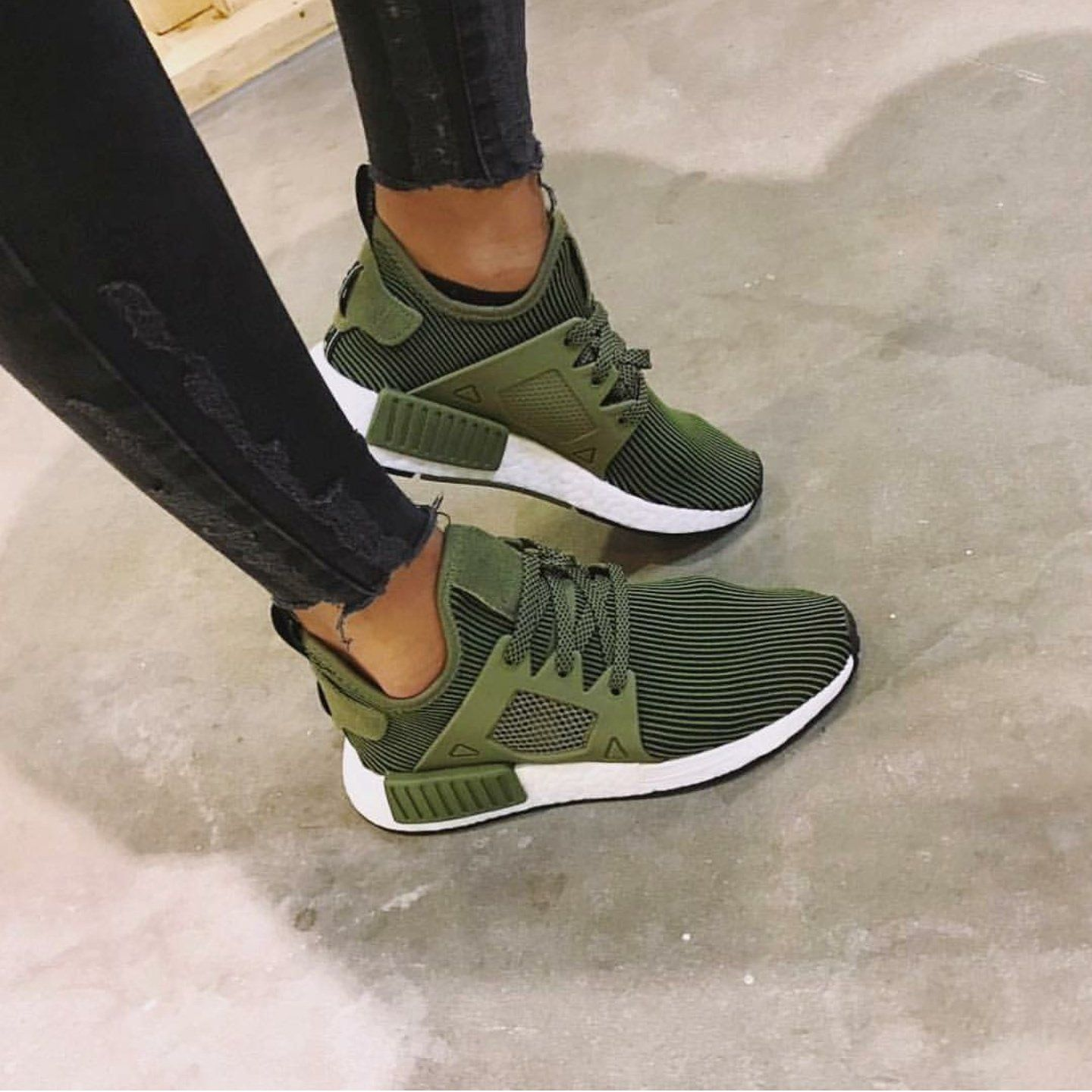 14fe19c849b4 Olive NMD – Simply Boutiq 123  Sneakers