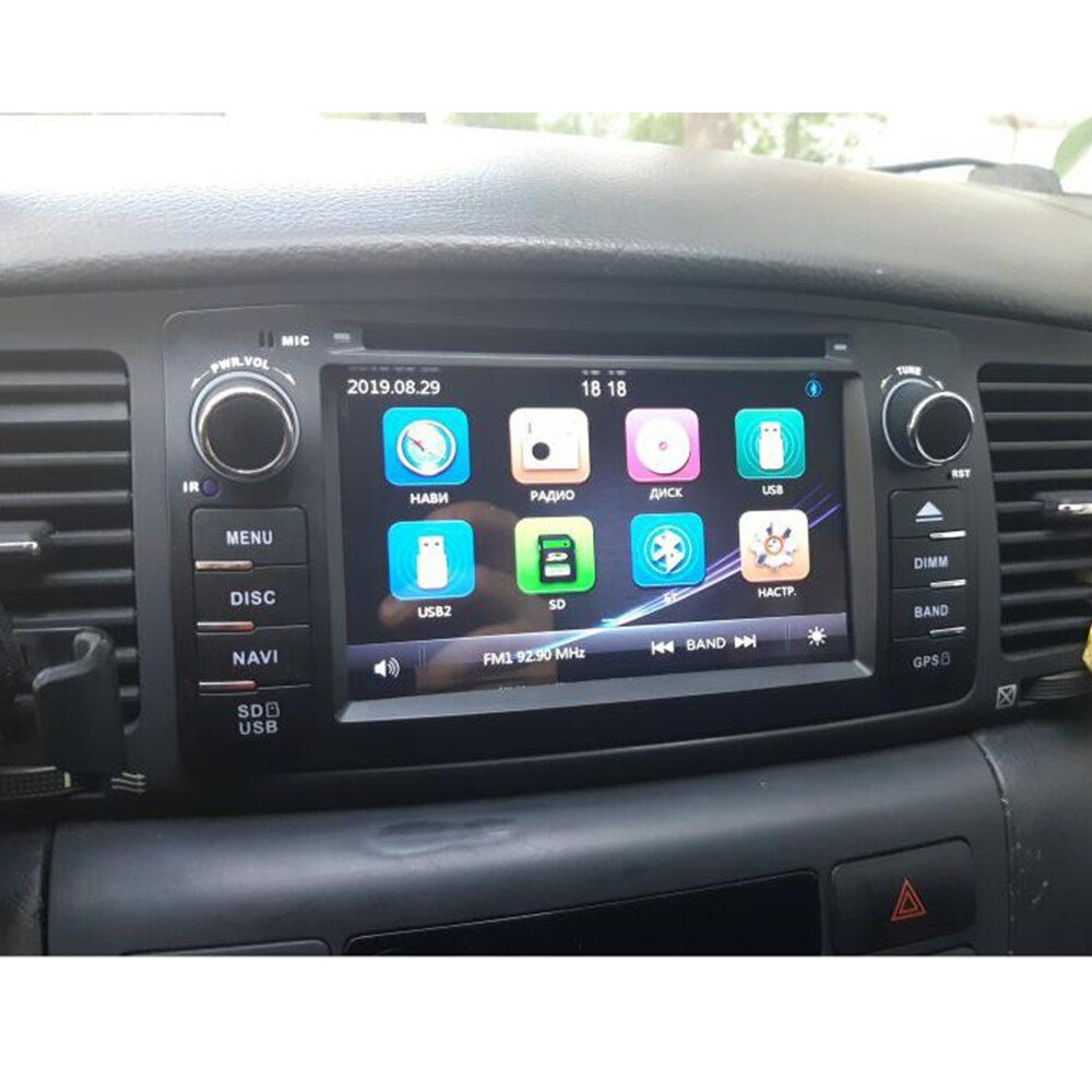 Best 2 Din Car Dvd Player For Toyota Corolla E120 Byd F3 2000 2005 2006 Gps Radio Multimedia Head Unit Stereo Navigation Aud Car Dvd Players Toyota Corolla Gps