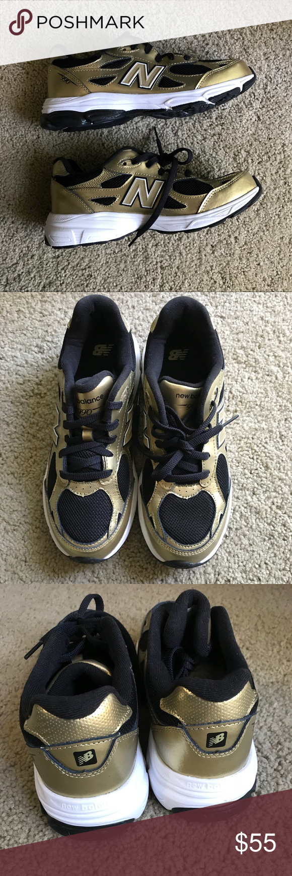 huge selection of 4d012 2419e New Balance 990 New. Never Worn. Black and Gold New Balance ...
