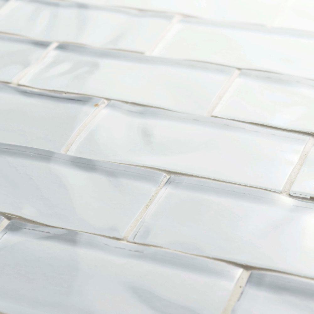 Merola Tile Tessera Ripple Super White 11 3 4 In X 11 3 4