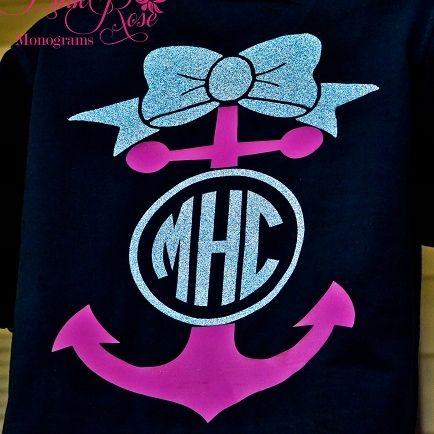 Big Bow Monogram Anchor Shirt Monogram Clothing