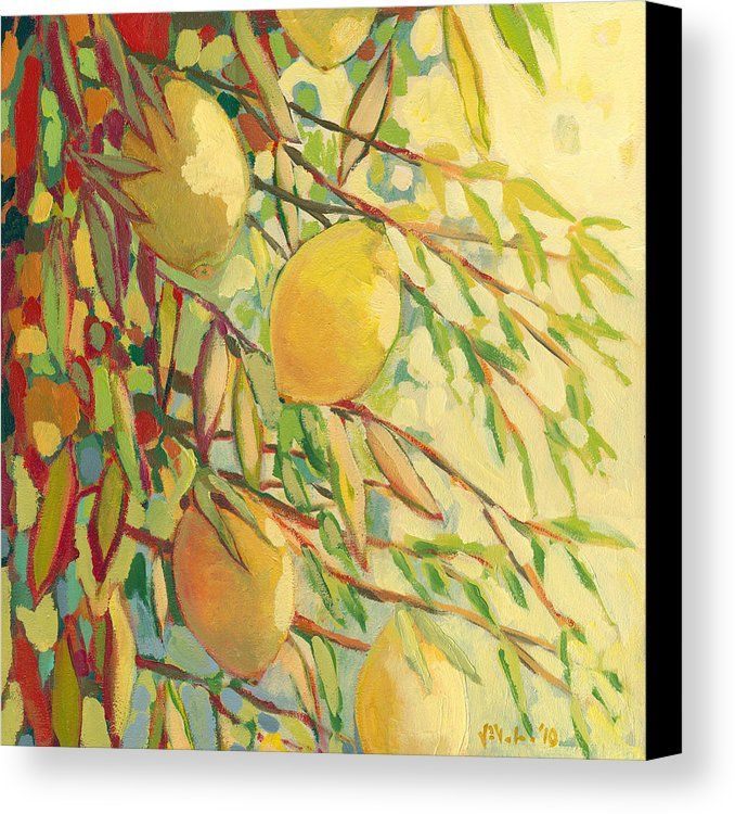 Four Lemons Canvas Print by Jennifer Lommers.  All canvas prints are professionally printed, assembled, and shipped within 3 - 4 business days and delivered ready-to-hang on your wall. Choose from multiple print sizes, border colors, and canvas materials.