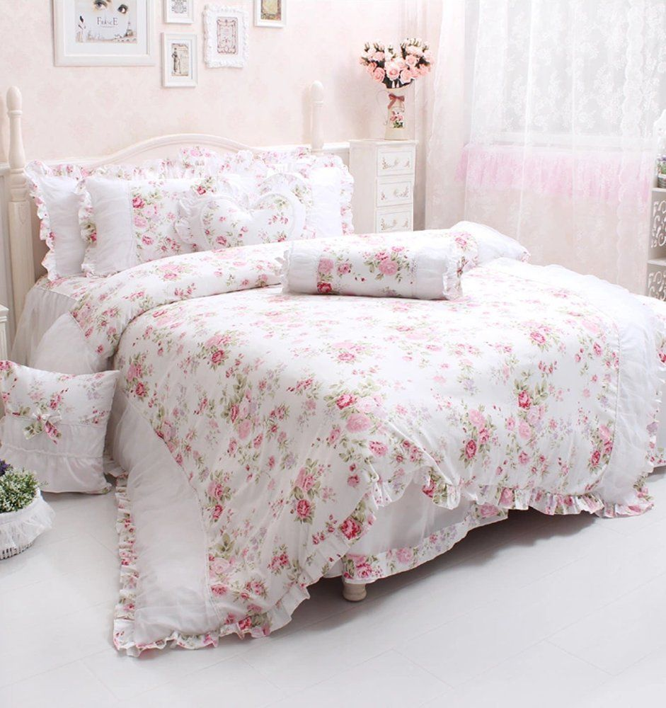 Teen Girls Pink Dusty Pink Rose Bedding Sets  Linens  Shabby Chic -5240