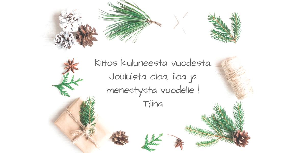 Vuoden vanha Pihablogi kiittää lukijoitaan ja toivottaa kaikille jouluista oloa ja iloa. Vuosi 2017 tuo mukanaan uusia tuulia pihablogiinkin!